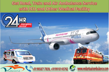 Get Road, Train and Air Ambulance Service in Ranchi with ICU and Other Medical Facility