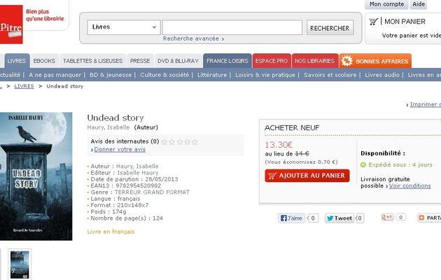 Undead Story en vente sur Chapitre.com !