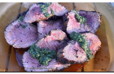 Bœuf sauce chimichurri au barbecue