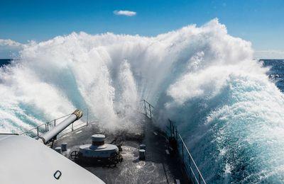 Décrire l'état de la mer, l'échelle de Douglas