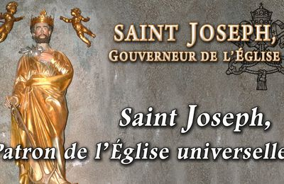 SAINT JOSEPH PATRON DE L'EGLISE CATHOLIQUE