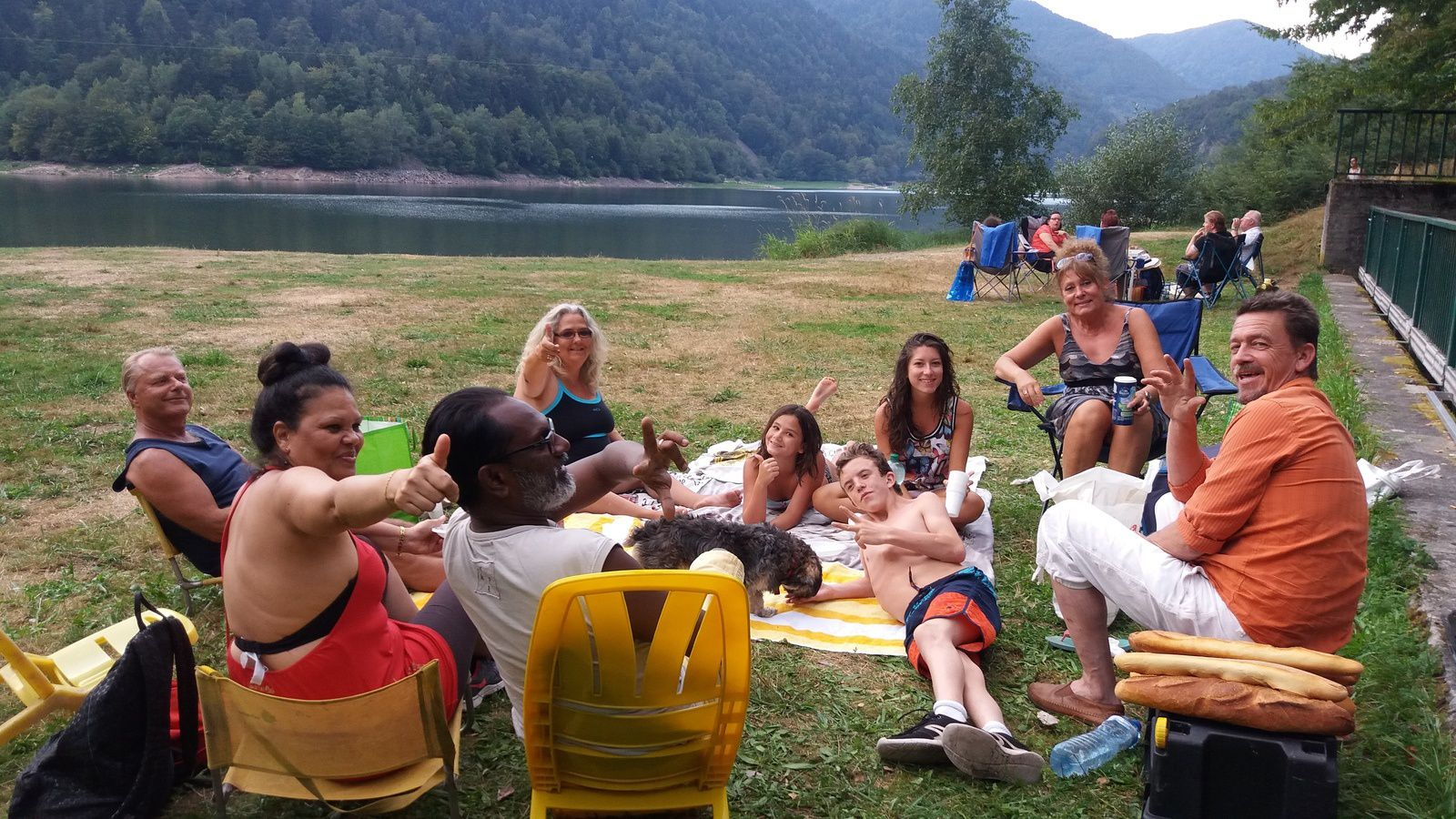 moment de détente au lac de kruth
