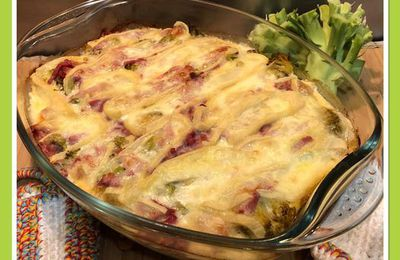 Clafoutis de brocoli, bacon & Reblochon