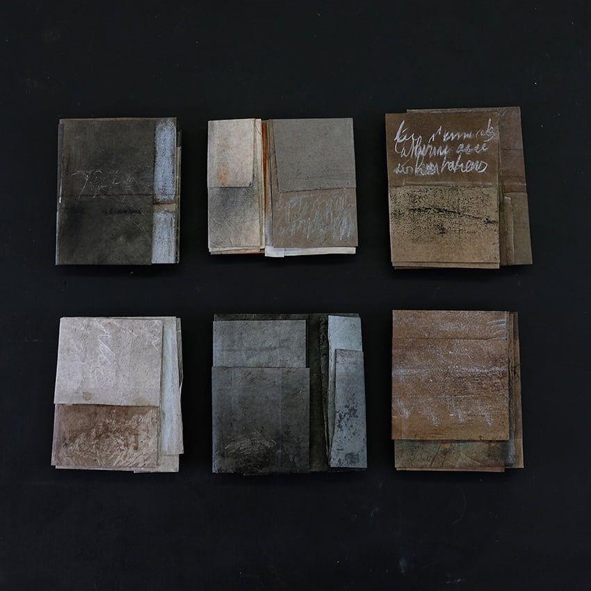 aperçu d' oeuvres que présente Catherine  Aerts à Paris