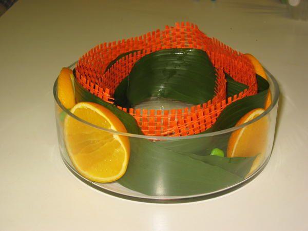 """réalisation d'une composition nommée """"Roulé d'oranges"""""""