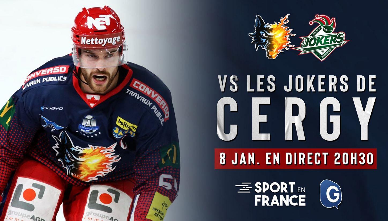 Grenoble / Cergy-Pontoise (Ligue Magnus) en direct vendredi sur Sport en France !