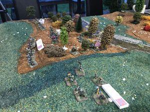 Les troupes d'Archer se déploient à l'oret du bois et La brigade de Meredith passe en ligne. Cutler et Davis se font face à face de chaque coté de la voix ferrés désaffectée