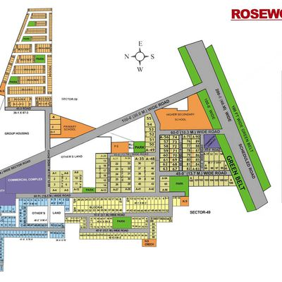 Residential Plots for sale in Rosewood City Gurgaon:9873498205