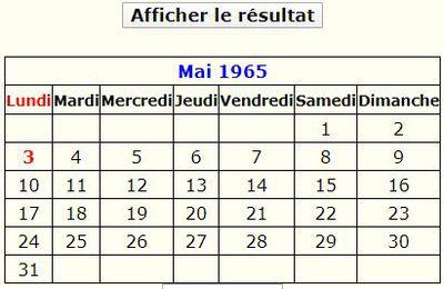Calendrier perpétuel en français