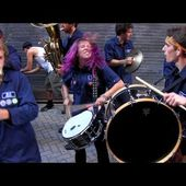 HONK! 2013 - The Riverhawk Party Band - Oct 13 - Palmer Street Alley, Harvard Square, Cambridge, MA.