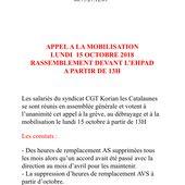 CGT Korian Les Catalaunes à Châlons en Champagne : appel à mobilisation le lundi 15 octobre. - Le blog des salarié-es de Korian
