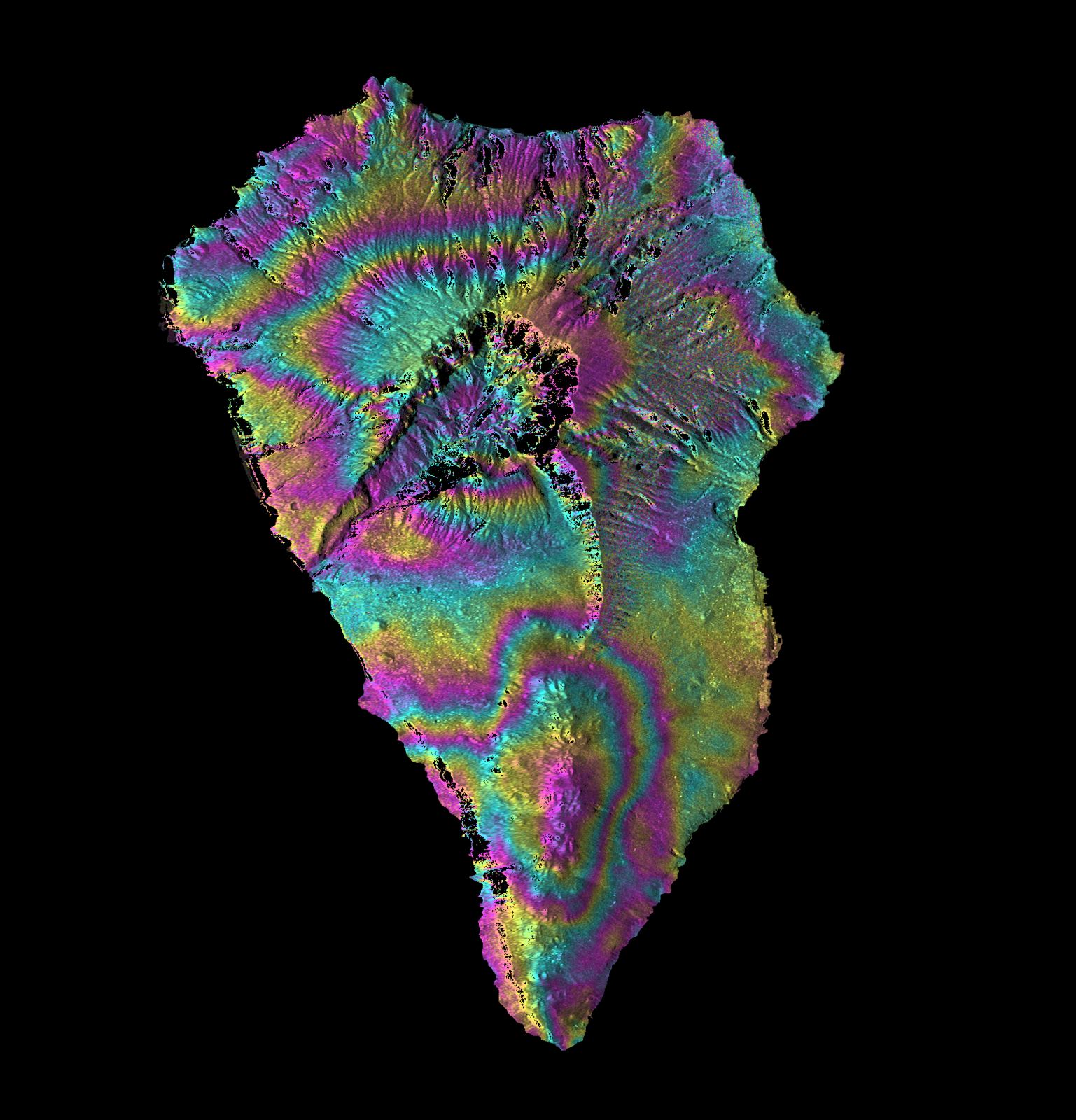 La Palma - The Sentinel1 interferogram (ascending orbit) shows ~ 6 cm of signal with reduced range (towards the satellite) - 09.15.2021 - NB: it must be confirmed by the following passage in descending orbit.