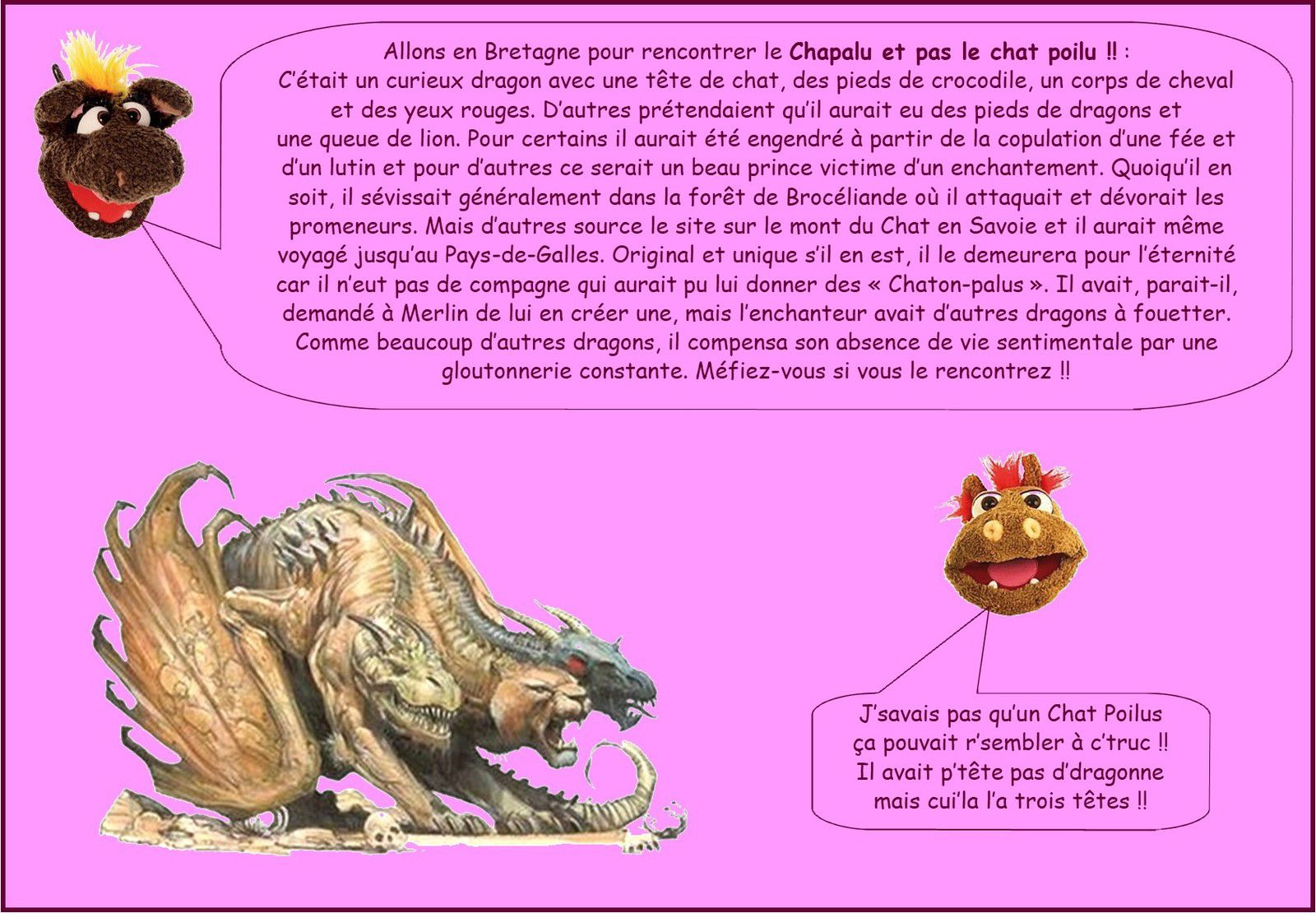 DRAGONS CELEBRES DE FRANCE