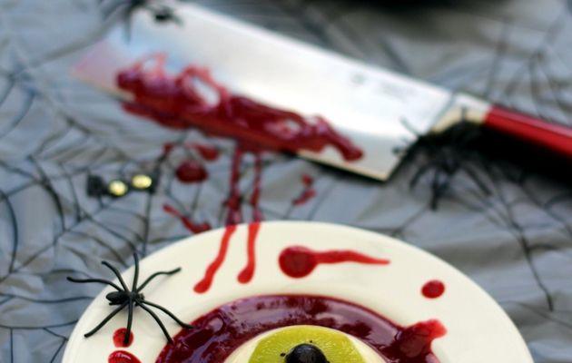 Panna cott'oeil ensanglanté (pour halloween)