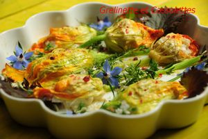 Fleurs de Courgettes Farcies (Moelleuses, Parfumées) Antipasti II...