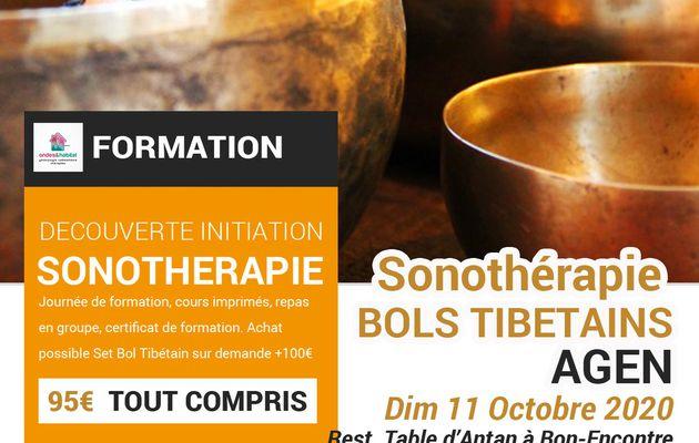 Formation Sonothérapie Bols Tibétains, thérapies, soins energétiques et physiques Agen Dim 11 Oct 2020