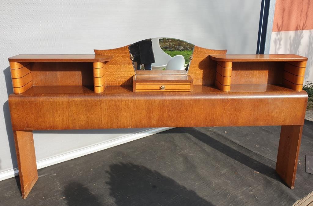Cosy-corner vintage 1950 console et bibliothèque  - VENDU
