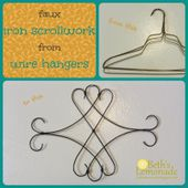 Faux Iron Scroll Decor from Wire Hangers