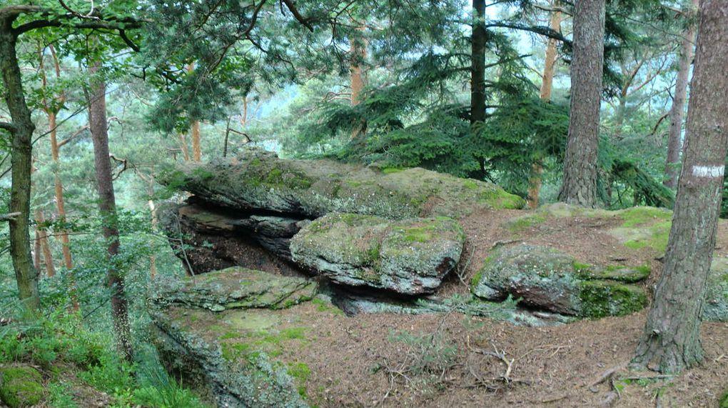Le rocher du Grand Krappenfels (Grand Rocher du Corbeau).