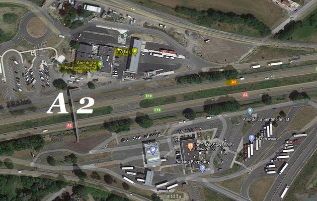 Rendez-vous le Samedi 25 Juillet 2020, à partir de 8 h 30 sur l'aire de repos de la sentinelle de l'autoroute A 2, Valenciennes-Paris « Station Total »
