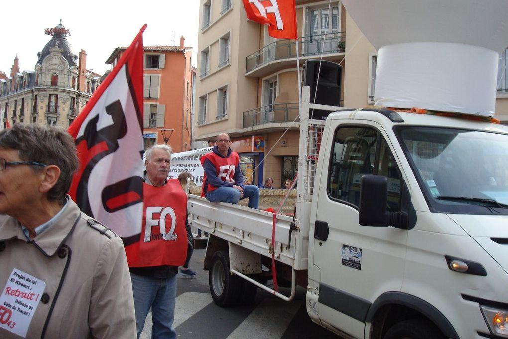 31 mars: 5000 manifestants au Puy, 1million 200 000 dans le pays, une grève très suivie