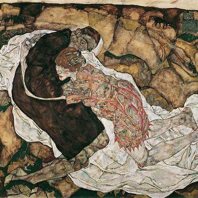 La Mort et la femme. Tableau d'Egon Schiele (1915).