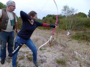 Initiation au tir à l'arc en pleine nature
