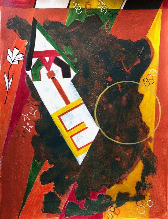 Premières étapes d'une composition en cours de réalisation - Magda Rebutato