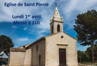 MESSE À SAINT PIERRE LUNDI 1ER AVRIL