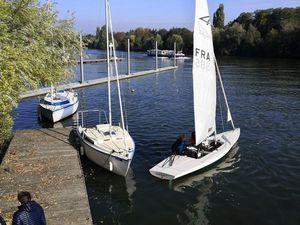 2 Flying Fifteen, un Corsaire et un 5.6 sur l'eau ce WE