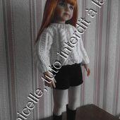 tuto gratuit poupée: veste à torsades - Chez Laramicelle