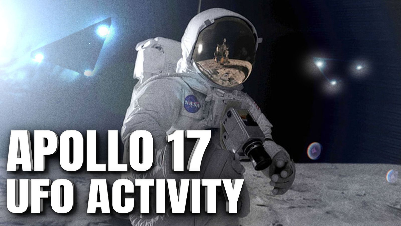 INTENSE UFO ACTIVITY NEAR APOLLO 17 Lunar Mission Revealed In Official NASA Images 👽