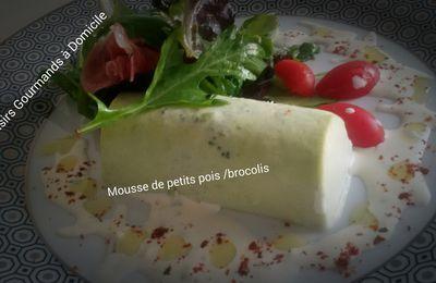 Mousse de petits pois et brocolis