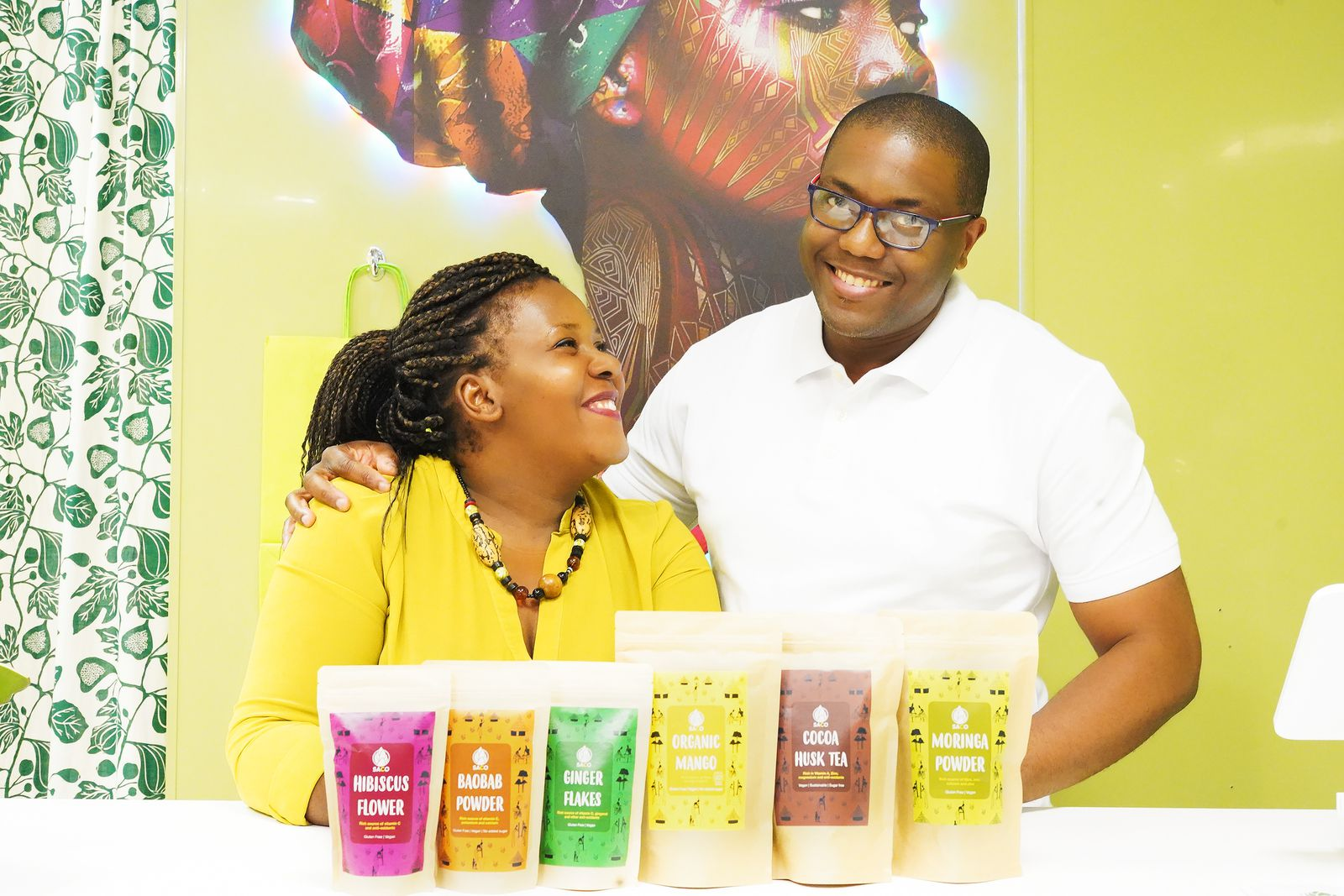 Franck and Lucia, owners of SACO Superfoods in Salford, UK