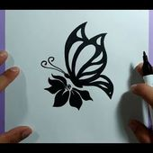Como dibujar una mariposa paso a paso 18 | How to draw a butterfly 18