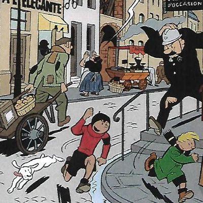 Clin d'œil de Tintin à Spirou