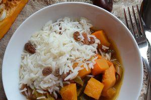 Mijoté potimarron ratatouille et riz aux raisins secs L'Epicerie en bocal