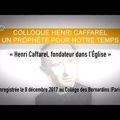 Henri Caffarel, fondateur dans l'Eglise