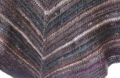 KAL rayures : un shawl bien chaud ?