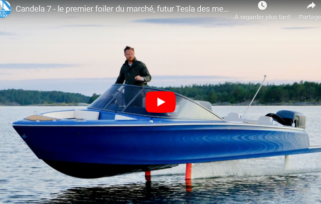 Innovation – Candela 7, 1er foiler 100% électrique, made in Sweden !