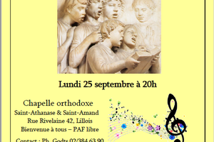 attention correction de l'heure - Concert à la chapelle de Lillois