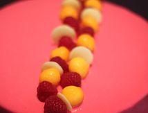 Entremets Fruits rouges et Mangue