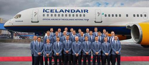 Icelandair transporteur officiel de l'équipe nationale de football d'Islande pour la Coupe du monde