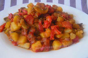 champignons, pomme de terre et poivron au chorizo -LIGHT-