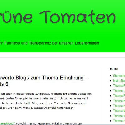 Top Ten Blogs: Naked Food auf Platz vier