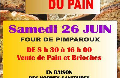 """Samedi 26 Juin """"Ronde du Pain"""""""