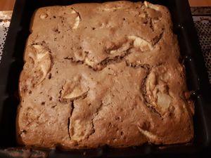Gâteau aux pommes et noisettes sans oeufs