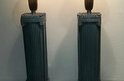 """"""" The Twin Towers of Manhattan """" - lampes industrielles tendance chic - VENDUES !!"""