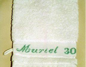 Ensemble linge, serviette et lavette : dauphins - 2001