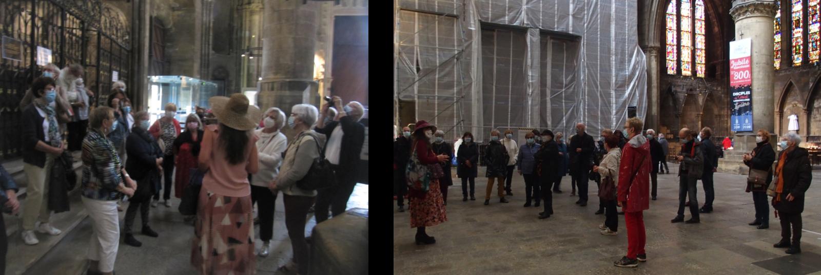 Visites guidées à la Cathédrale Saint Etienne de Metz, peintures murales et épitaphes, les 8 -10-20 et 28-8-21.